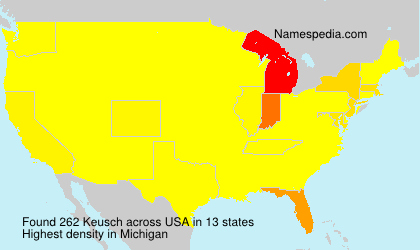 Surname Keusch in USA