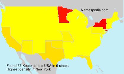 Surname Keute in USA