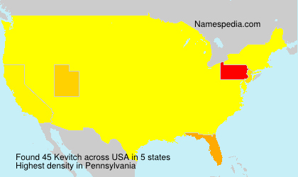 Surname Kevitch in USA