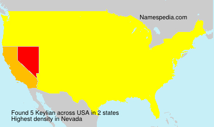 Surname Keylian in USA