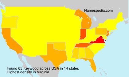 Surname Keywood in USA