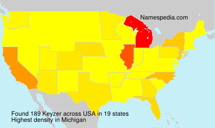 Surname Keyzer in USA