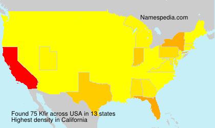 Surname Kfir in USA