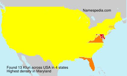 Surname Kfuri in USA