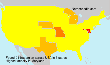 Surname Khademian in USA