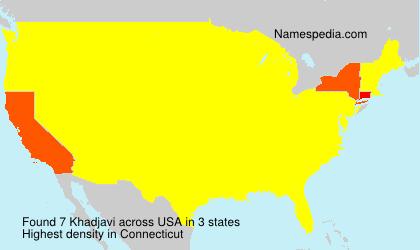 Surname Khadjavi in USA
