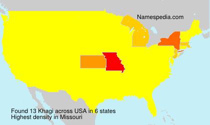 Surname Khagi in USA