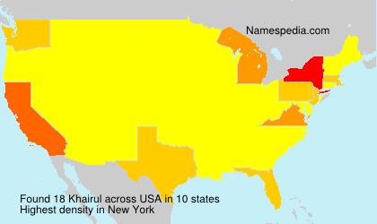 Familiennamen Khairul - USA