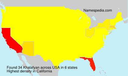 Surname Khalafyan in USA