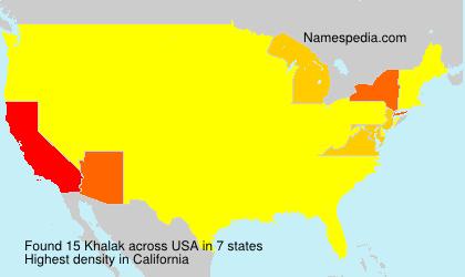 Surname Khalak in USA