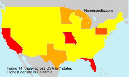Surname Khalel in USA