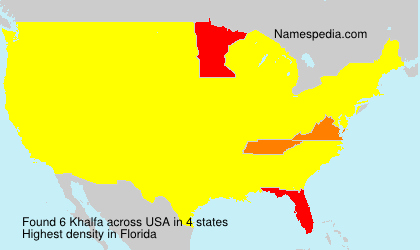 Surname Khalfa in USA