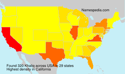 Surname Khaliq in USA
