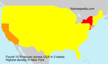 Surname Khaloyan in USA