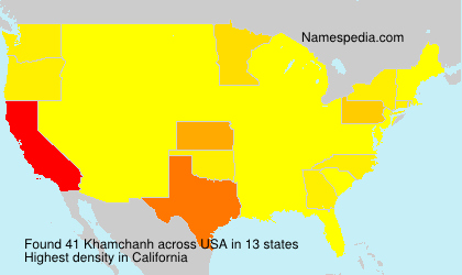 Surname Khamchanh in USA