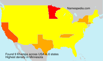 Surname Khampa in USA