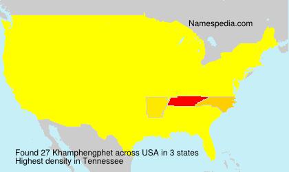 Surname Khamphengphet in USA
