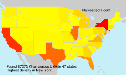 Surname Khan in USA