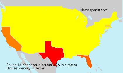 Familiennamen Khandwalla - USA