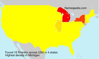 Surname Khankin in USA