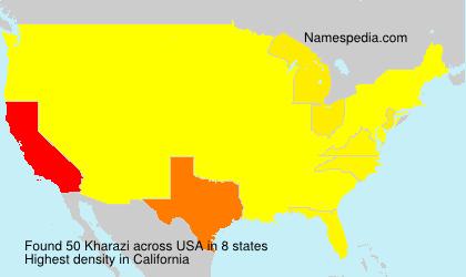 Familiennamen Kharazi - USA