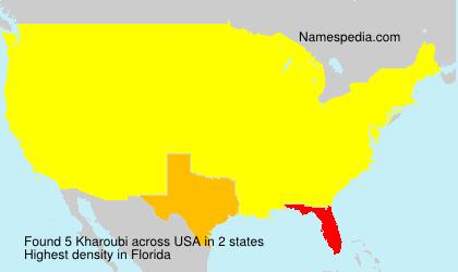 Surname Kharoubi in USA