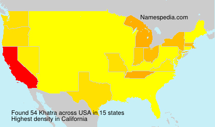 Surname Khatra in USA