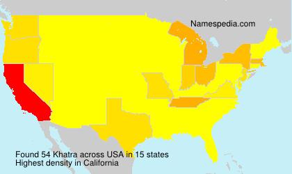 Surname Khatra in USA