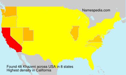 Surname Khazeni in USA