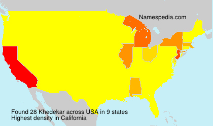 Surname Khedekar in USA