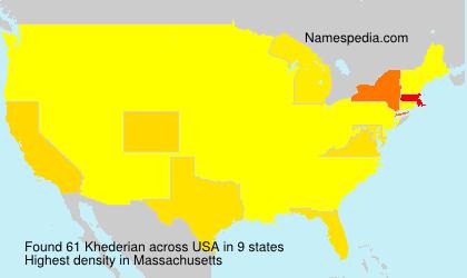 Familiennamen Khederian - USA
