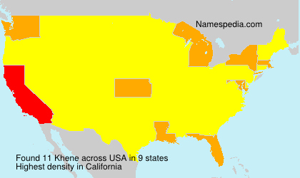 Surname Khene in USA