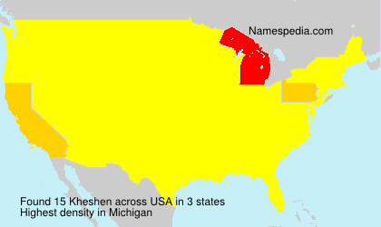 Surname Kheshen in USA