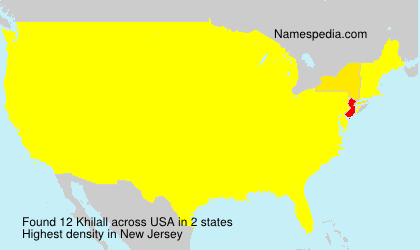 Surname Khilall in USA