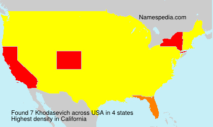 Surname Khodasevich in USA