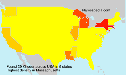 Surname Khoder in USA