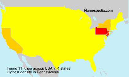 Surname Khop in USA