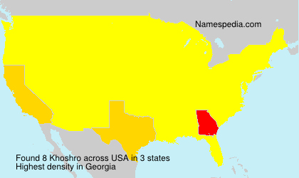 Surname Khoshro in USA