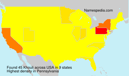 Surname Khouli in USA