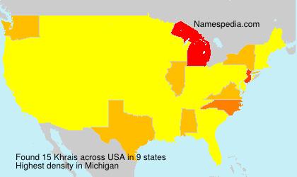 Familiennamen Khrais - USA