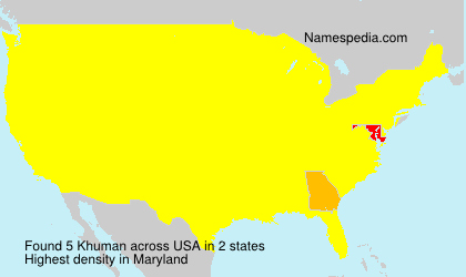 Surname Khuman in USA