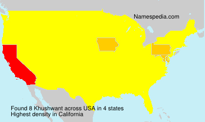 Surname Khushwant in USA