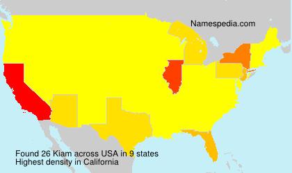 Surname Kiam in USA