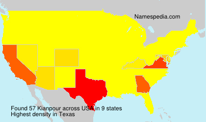 Surname Kianpour in USA