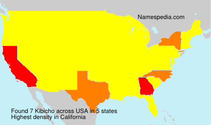 Surname Kibicho in USA