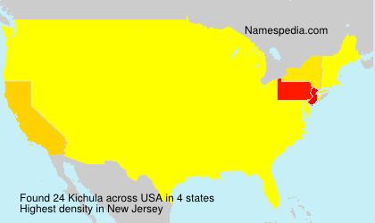 Surname Kichula in USA