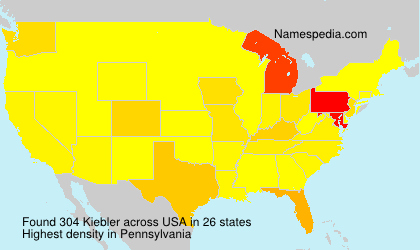 Surname Kiebler in USA
