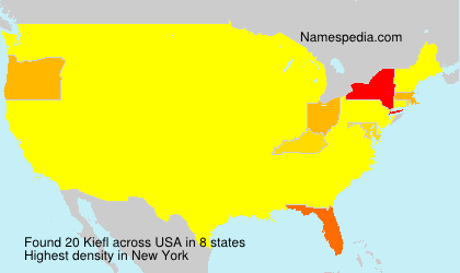 Surname Kiefl in USA