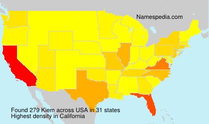 Surname Kiem in USA