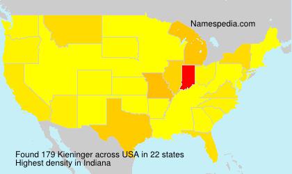 Surname Kieninger in USA